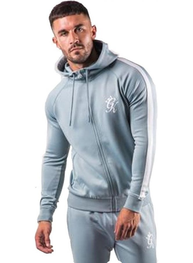 GYM KING Poly Track Zip Top Mirage Blue