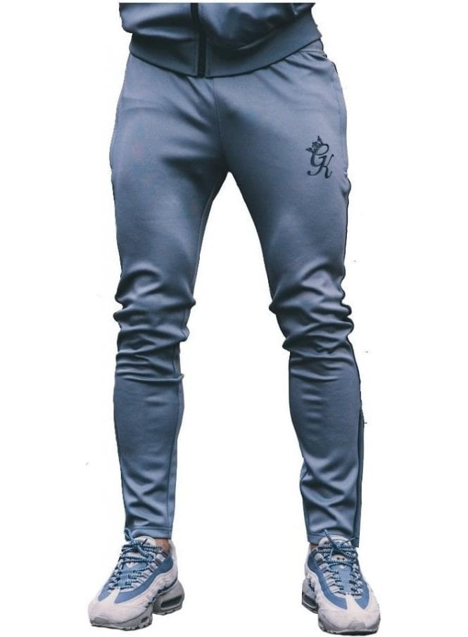 GYM KING Poly Tracksuit Bottoms Steel/black