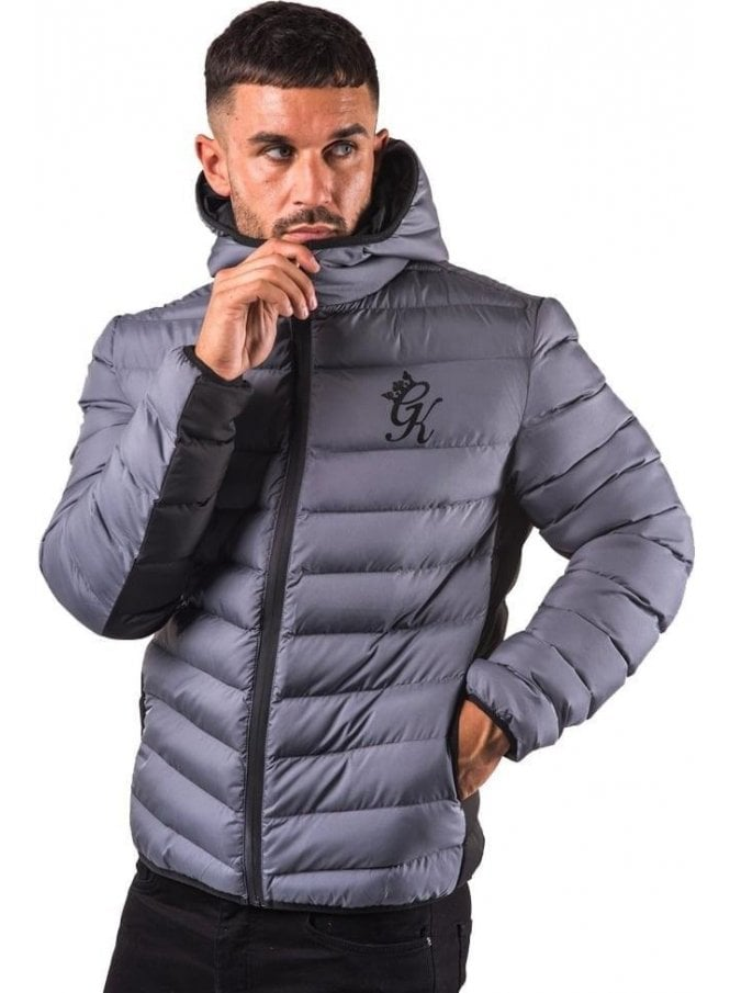 GYM KING Puffa Jacket Steel Grey