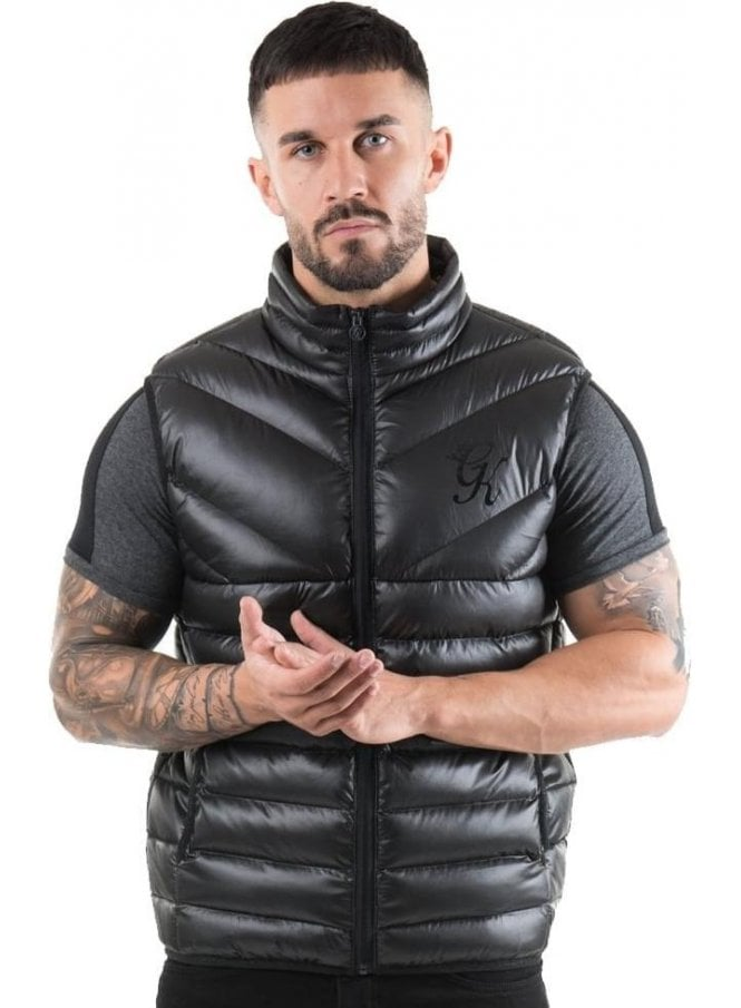 GYM KING Reign Quilted Gilet Body Warmer Black