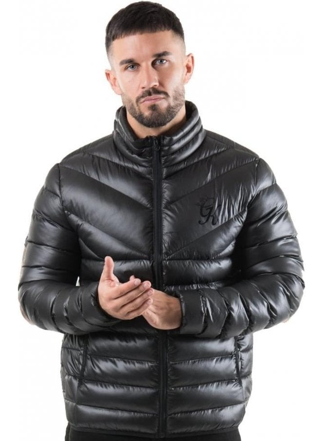 GYM KING Reign Quilted Jacket Black
