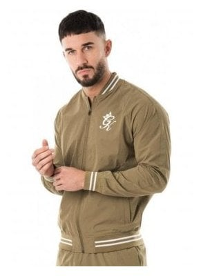 Retro Woven Tracksuit Top Light Khaki