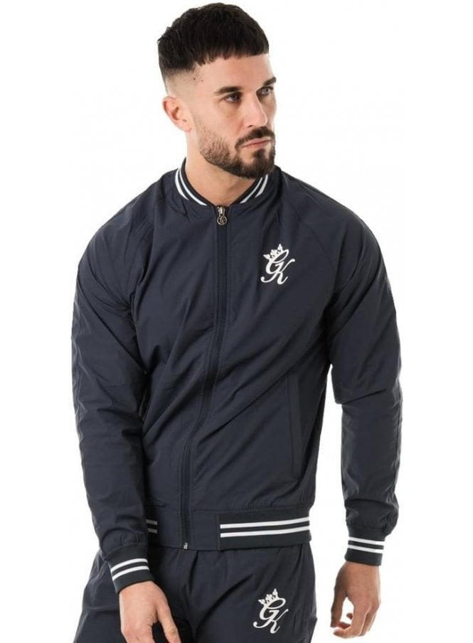 GYM KING Retro Woven Tracksuit Top Navy Nights
