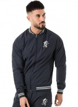 Retro Woven Tracksuit Top Navy Nights
