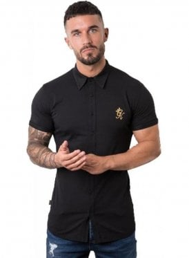 Gym King S/s Jersey Shirt Black/gold