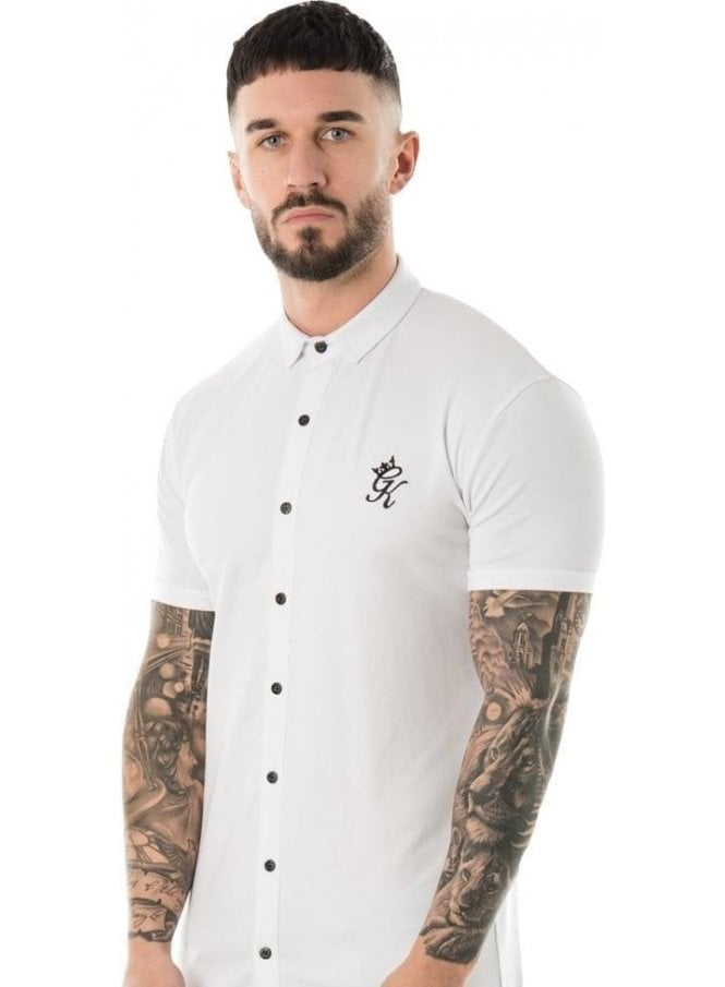 GYM KING Short Sleeve Jersey Shirt White