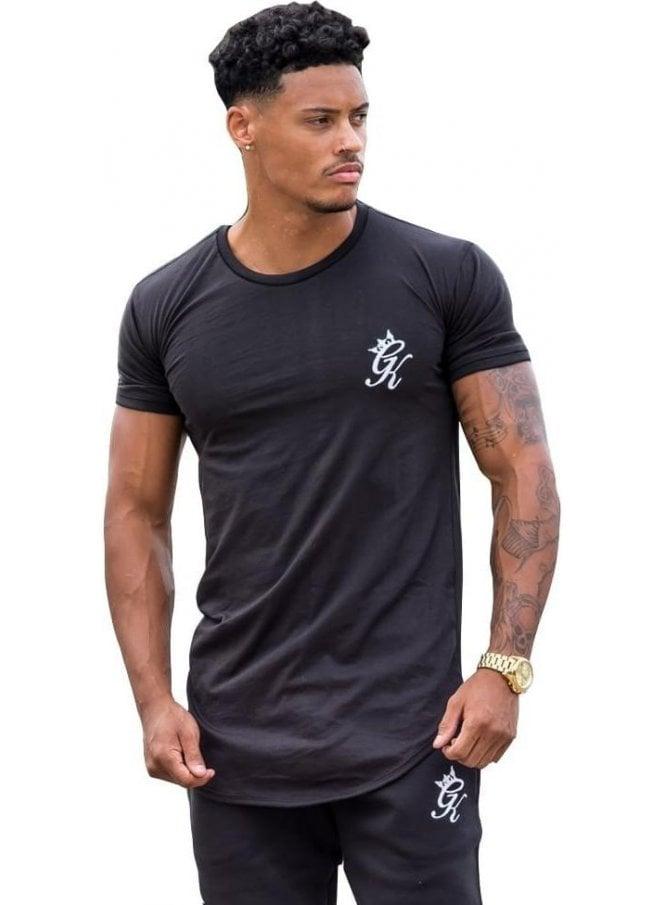 GYM KING Slim Fit Longline Tshirt Black