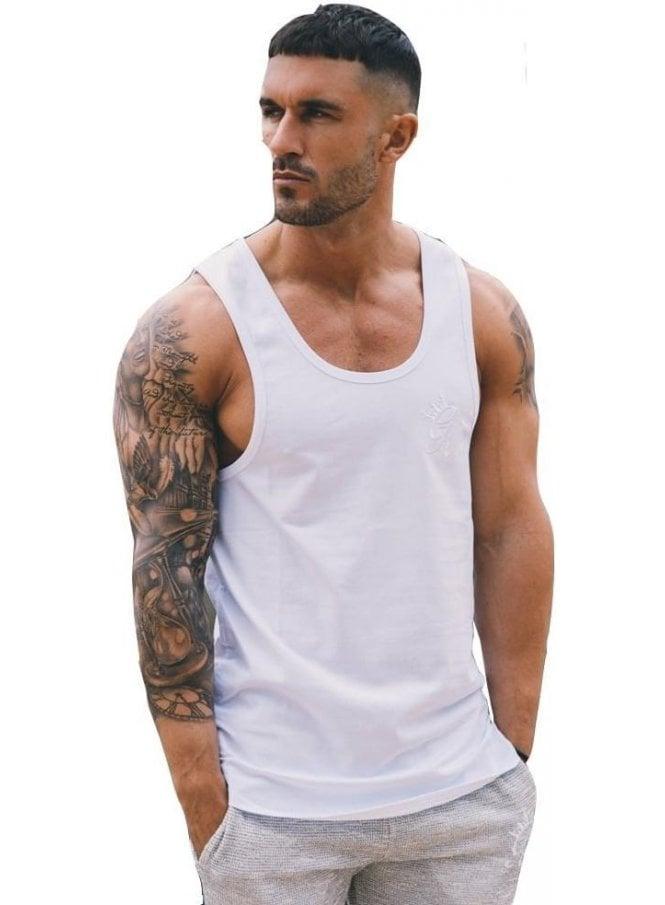 GYM KING Tank Logo Basic Vest White
