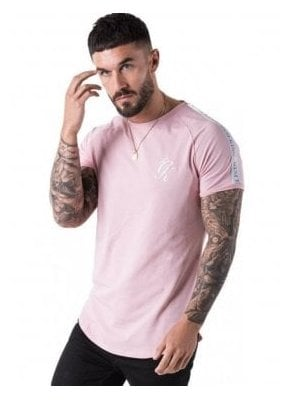 Taped Longline Tee Shirt Peachskin