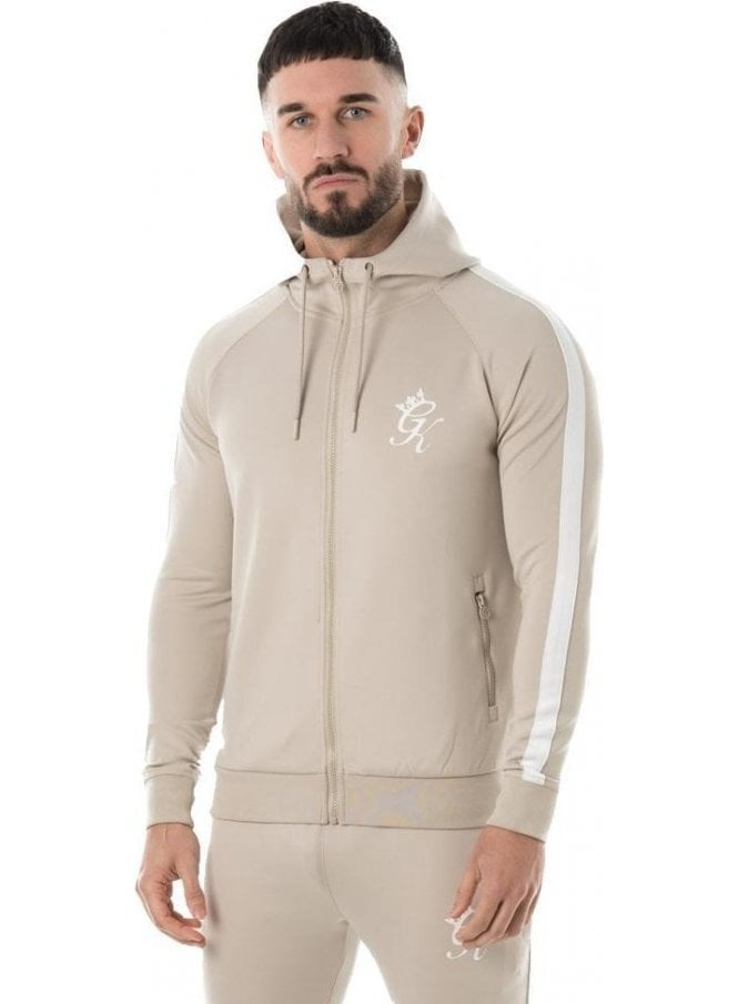 GYM KING Tapered Poly Tracksuit Top Cloud/White