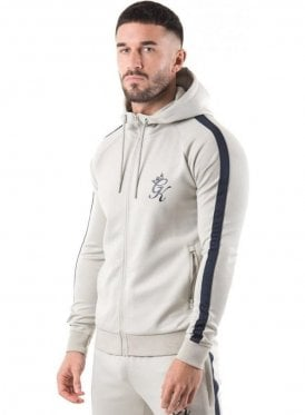 Gym King Tapered Poly Tracksuit Top Concrete/navy Nights