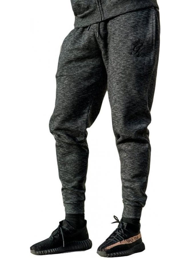 GYM KING Tracksuit Bottoms Black Space