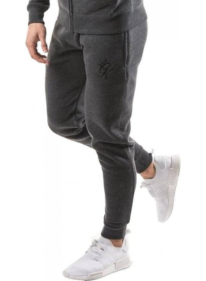 GYM KING Tracksuit Bottoms Charcoal Marl