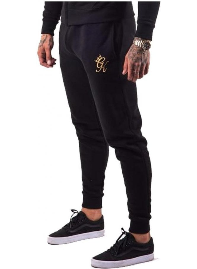 GYM KING Tracksuit Core Range Bottoms Black/gold