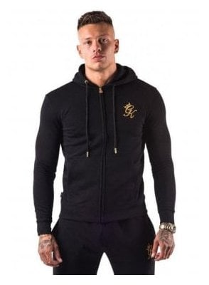 Tracksuit Core Range Zip Top Hoodie Black/gold