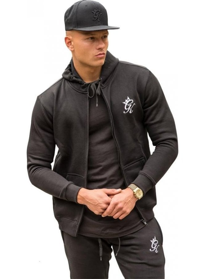 GYM KING Tracksuit Zip Top Black