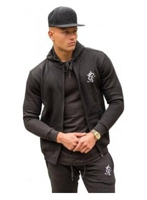 Tracksuit Zip Top Black