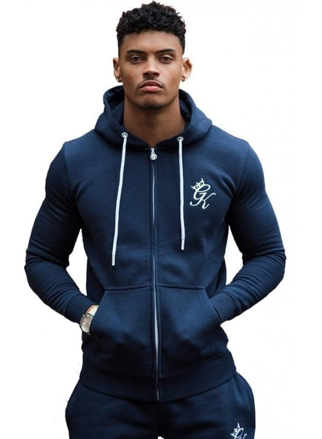 GYM KING Tracksuit Zip Top Blue Nights