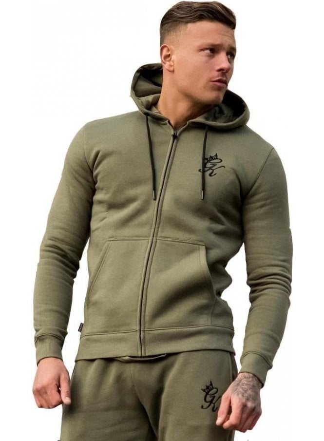 GYM KING Tracksuit Zip Top Burnt Olive