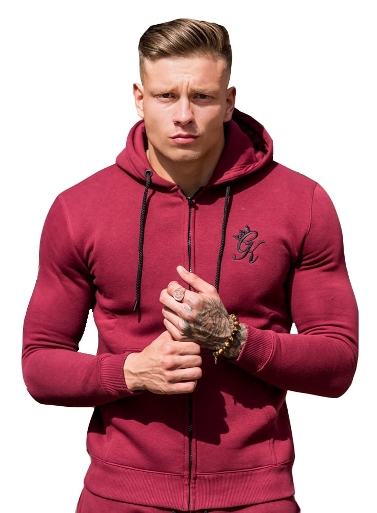 gym king tracksuit zip top cordovan