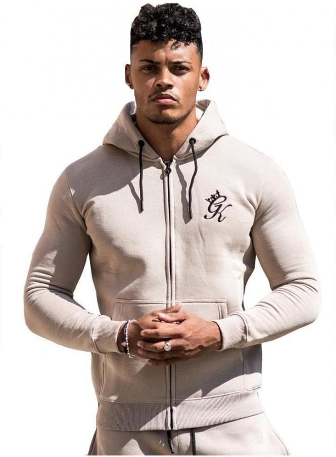 GYM KING Tracksuit Zip Top Nomad