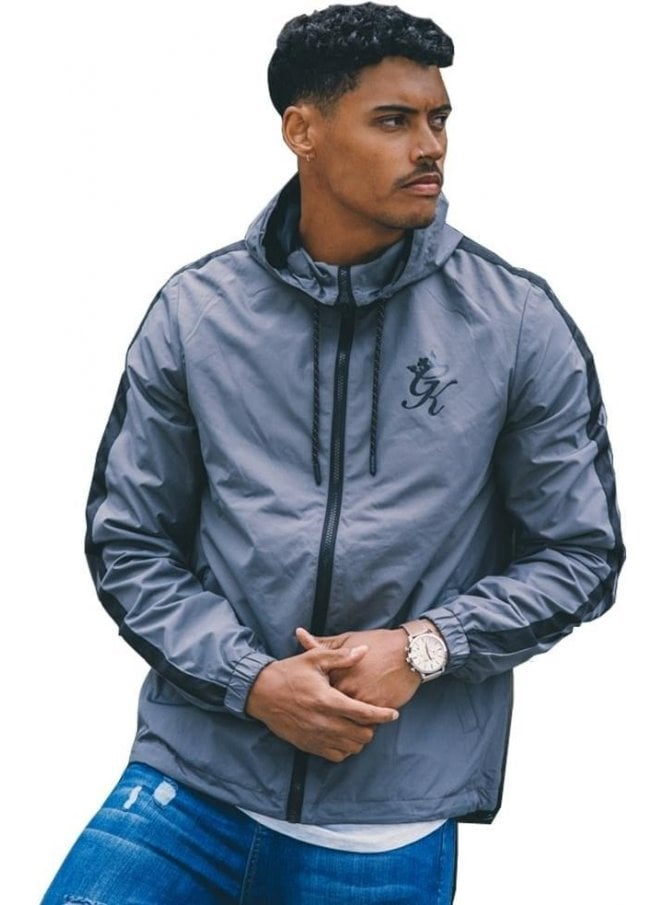 GYM KING Windrunner Outer Wear Zip Jacket Steel Grey
