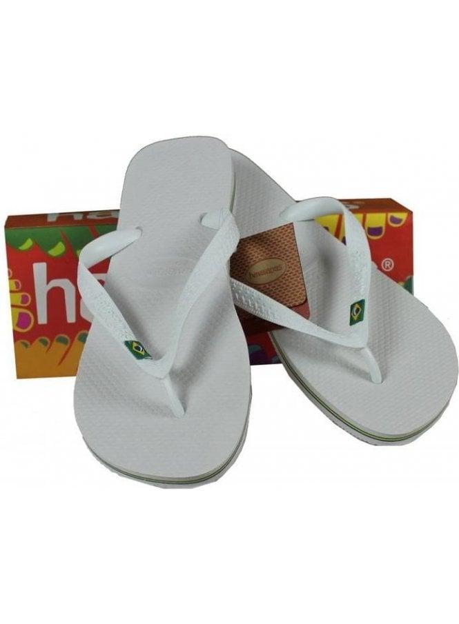 HAVAIANAS Brasil Flip Flop White