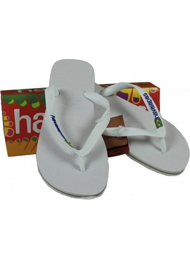HAVAIANAS Brasil Logo White