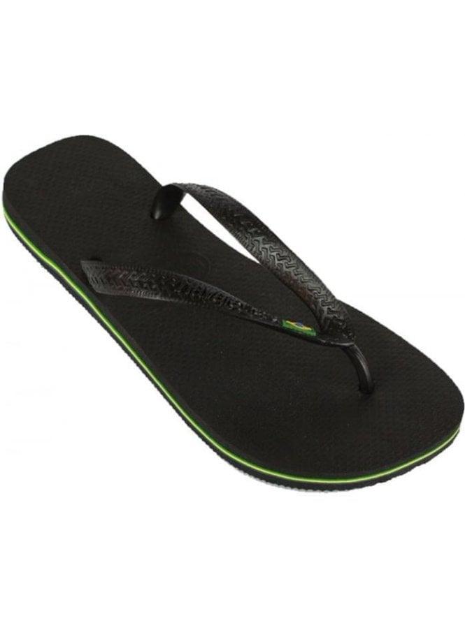 HAVAIANAS H Brasil Flip Flops Black