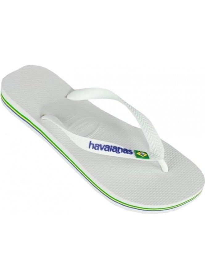 HAVAIANAS H Brasil Logo Flip Flop White