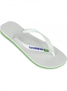 H Brasil Logo Flip Flop White