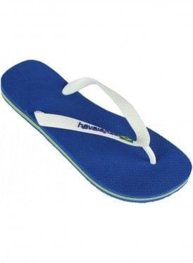 H Brasil Logo Flip Flops Marine Blue