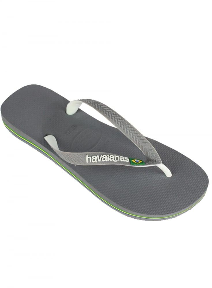 a07ccfcffa8dec Havaianas H Brasil Mix Flip Flops Steel Grey white