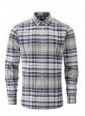HENRI LLOYD Abberton Regular Long Sleeved Check Sh Beige