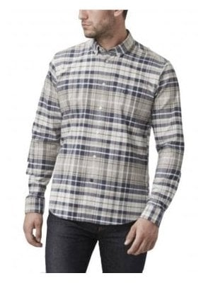 Abberton Regular Long Sleeved Check Sh Beige