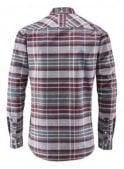 HENRI LLOYD Abberton Regular Long Sleeved Check Sh Burgundy/grey