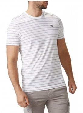 Bretton Stripe Crew Neck Tshirt White/pink
