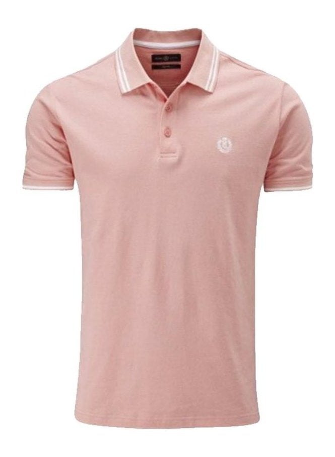 HENRI LLOYD Byron Regular Fitting Polo Salmon