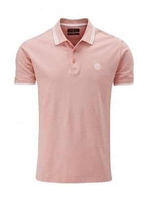 Byron Regular Fitting Polo Salmon