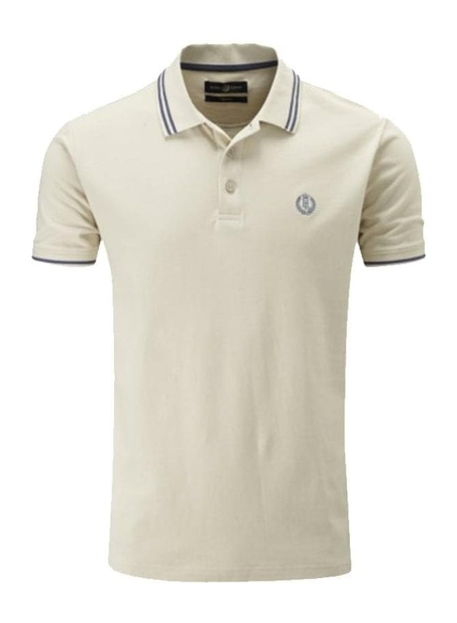 HENRI LLOYD Byron Regular Fitting Polo Sand