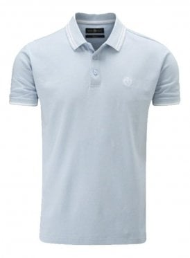 Byron Regular Fitting Polo Sky
