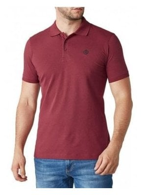 Cowes Regular Fitting S/s Polo Tshirt Burgundy