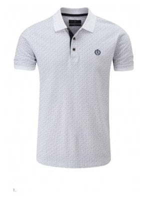 Flixton Regular Fitting Polo White Blue