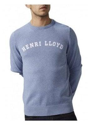 Henri Lloyd Gell Regular Crew Neck Fine Knitwear J Baby Blue