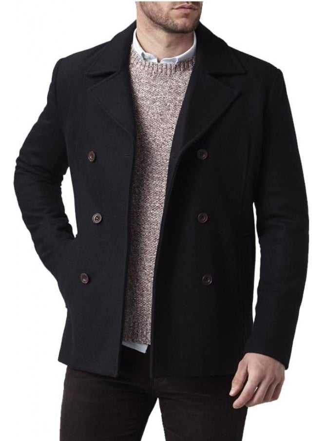 HENRI LLOYD Harling Melton Pea Coat Navy