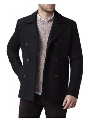 Harling Melton Pea Coat Navy