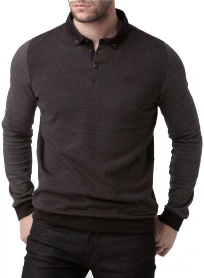 HENRI LLOYD Kyre Long Sleeved Regular Button Down Jet Black