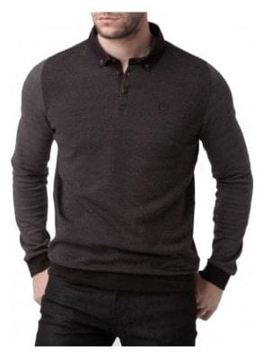 Kyre Long Sleeved Regular Button Down Jet Black