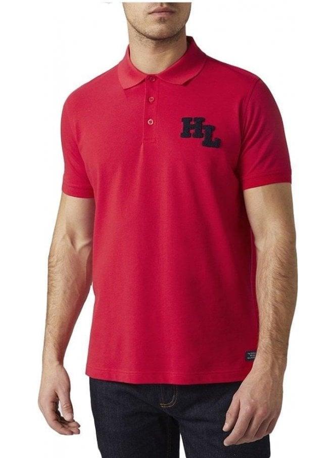 HENRI LLOYD Maitland Regular Branded Polo Tshirt Red