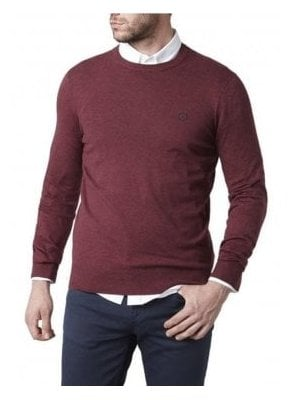 Miller Regular Crew Neck Knitwear Fine Burgundy
